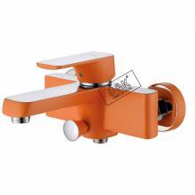 Смеситель для ванны D&K DA1433213, оранжевый + хром, с аксессуарами